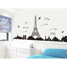 Removable Paris Eiffel Tower Art Decal Wall Sticker Mural For Bedroom Home Decor