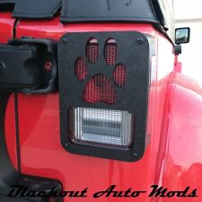 Jeep Tail Light Covers for Jeep Wrangler JK 2007 and Up Paw Prints Made in USA