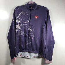Castelli Cyclying Windstopper Jacket Womens Size XL Purple with Flower Pockets