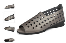 Arche Drick Iron Etain Metal Comfort Flat Sandal Women's sizes 36-41/5-10 NEW!