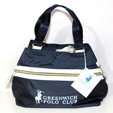 Borsa Greenwich POLO CLUB blu bianco Ralph Lauren multitasche bauletto bag donna