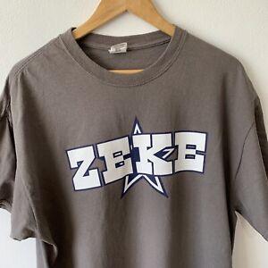 Gildan Grey T-Shirt Size XL Zeke Star Graphic Print Tee Short Sleeve