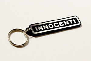 Innocenti Keyring - Brushed Chrome Effect Classic Car Keytag / Keyfob