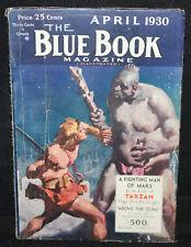Blue Book Magazine Illustrated Pulp - Edgar Rice Burroughs (VG+ / F) April 1930