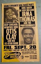 "Irma Thomas and Otis Clay 1996 Original Concert Poster "" Soul Dance Party """