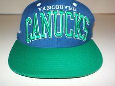 VANCOUVER CANUCKS snap back hat Zephyr ZHat blue green orca NHL