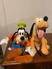 Disney Goofy And Pluto Plush Stuffed Animal Set