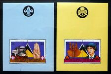 St LUCIA Pairs of Scout M/Sheets Perf & Imperf Different Types (8) U/M NC1695