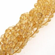 "Citrine 5mm Rotonda Perline 15"" Strand Semi Preziosi Gemstone"