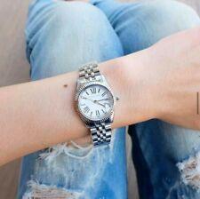 Michael Kors Mini Lexington Ladies Watch Silver-tone White Dial