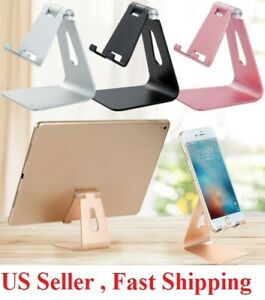 Universal Adjustable Cell Phone Tablet Desk Stand Holder  Desktop Aluminum metal
