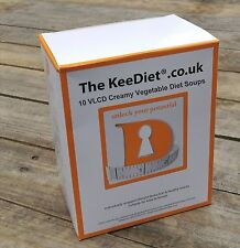 Meal Replacement VLCD Diet Weight Loss 10 x KeeDiet® Creamy Vegetable Diet Soup