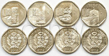 PERU 4 COINS SET 2012 WEALTH AND PRIDE OF PERU UNC (#1512)