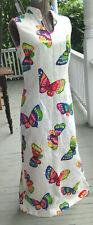 Vintage Saks Fifth Avenue Butterfly Mod 60s Asian style Dress Womens Sz S/M