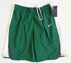 NIKE Basketball Shorts Womens Size L Green $55 Dri Fit Elastic Waist