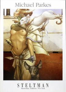 Michael Parkes Stalking 1995 Offset Lithograph Poster 32 x 23-1/2