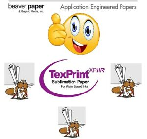 Sublimationspapier, TexPrint ® XP-HR 105 g/qm, DIN A4 / 110 Blatt / 1 Pack: