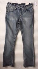 Juniors Girls Skinny Boot Jeans size 16 Mid Rise Jeans with Rhinestones by Mudd,