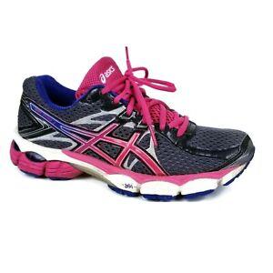 Asics Gel Flux 2 Black Pink Gray Blue Running Training Shoes Sneaker Womens 7.5