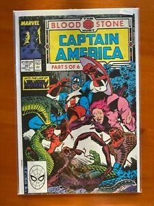 Captain America 361 The Blood Stone Hunt Comic Book - B74-51