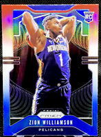 Zion Williamson 2019-20 Panini Prizm Red White & Blue #248 RC Rookie