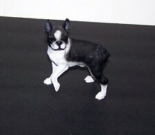Boston Terrier Dog Mini Figurine Standing Black & White Coloring 1991