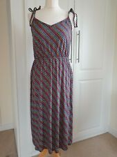 Ladies Multi colour WAREHOUSE JERSEY PRINTED Beach DRESS SIZE 12