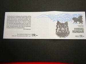 """1989 Sweden Stamp Booklet """"100 Years of the Swedish Kennel Club"""" SG 1473/5"""