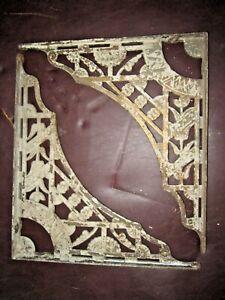 """LARGE PAIR of 16"""" x 18"""" REAL ANTIQUE 1800's ART NOUVEAU SHELF / CORNER BRACKETS"""