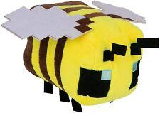 """JINX Minecraft Happy Explorer Bee Plush Stuffed Toy 4.5"""" Tall NEW 2020"""