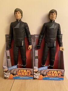 2 X Star Wars Luke Skywalker Figure Large 18 Inch Brand New Sealed Bundle 2