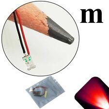 5 x 12v 1206 3216 Red SMD LED Pre-Wired Light Soldered Leads 9v 18v 6v 5v 14v