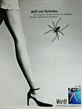 PUBLICITÉ DE PRESSE 1998 COLLANT WELL PERFECTION L'ÉVÉNEMENT COLLANT - ARAIGNÉE