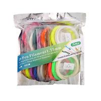 3D Pen Printing Refill ABS Filament 1.75mm 10 Colors 10M each include 2 Luminous