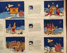 VIP Cranston Follow The Star Christmas Nativity Story Fabric Book Panel UNCUT