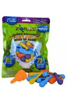 ZORBZ 75 SUPER SELF SEALING WATER BOMBS BALLOONS GARDEN SUMMER FUN + NOZZLES New