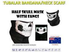 Tube/Bandanna Seamless Face Mask Scarf Microfiber Multiwear Skull (H) QA15