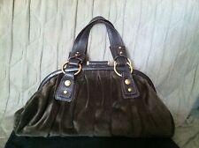 Dolce & Gabbana D&G Velour Evening Satchel Bag Goldtone Hardware Purse Handbag
