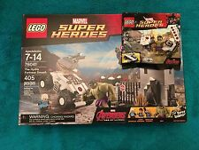 Lego Marvel Super Heroes The Hydra Fortress Smash 76041 And Promo Bag Hulk 50030