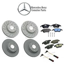 Mercedes W204 Front and Rear Brake Disc Rotors with Pads & Sensors Genuine KIT