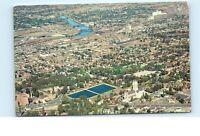 *1960s Aerial View St. John's Episcopal Church Spokane Washington Postcard C11
