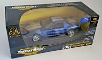 ERTL 1/18 2004 CORVETTE Z06 BLUE CHROME 1 OF 500 - Sequentially # License Plate