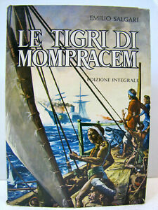 "Cartonato ""Ie tigri di Mompracem"" 1a ediz. 1974 Vallardi/Garzanti Emilio Salgari"