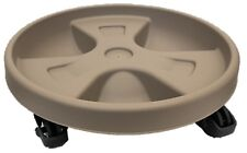 Round Plant Pot Trolley Plant Pot Holder With Wheels 28cm Taupe