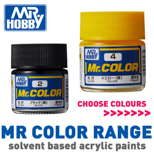 Mr Hobby Mr Color Acrylic Laquer Based Model Paint 10ml Jars - Choose Colours
