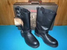MOTORCYCLE BOOTS, MENS RIVER ROAD TWIN BUCKLE ENGINEER, SIZE 11