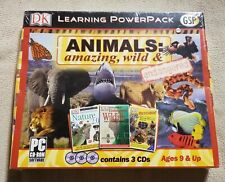 Dk Learning PowerPack Animals Amazing Wild Endangered Pc Cd-Rom 2006 New Sealed