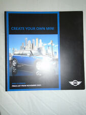Mini Clubman Price List brochure Nov 2007