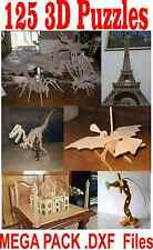 3D Puzzle  125 DRAWING .DXF MEGA PACK  FOR CNC  LASER CUTTER , PLASMA OR ROUTER