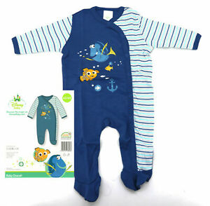 Disney Baby Strampler 62-92 Findet Nemo Dory blau 100% BW Overall Jungen Typ512